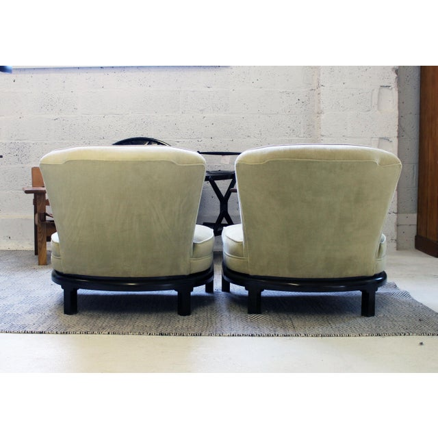 Michael Taylor Pair of Michael Taylor for Baker Style Lounge Slipper Chairs For Sale - Image 4 of 10