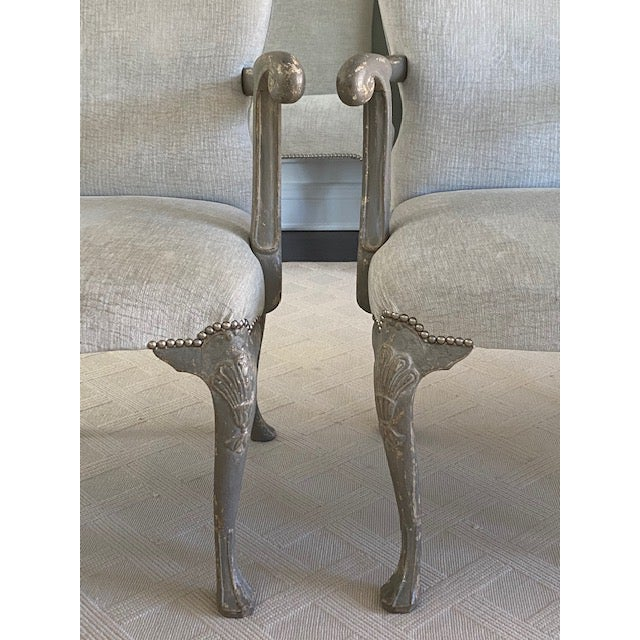 Antique Belgium Armchairs - a Pair For Sale - Image 11 of 12