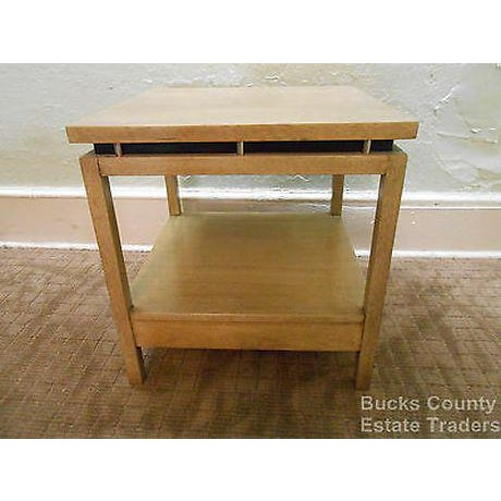 Copper American of Martinsville Cathay Casuals Mid Century End Table (James Mont Era) For Sale - Image 8 of 13