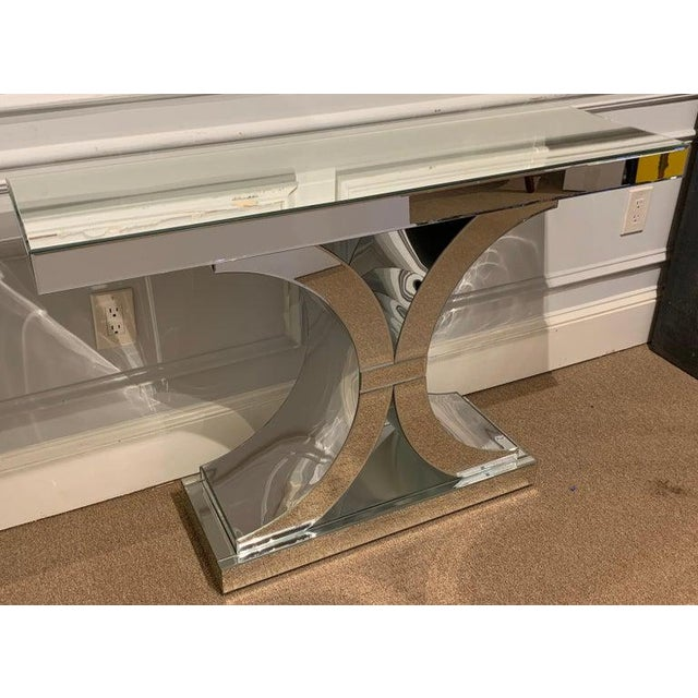 Modern French Modern Style Mirrored Console For Sale - Image 3 of 5