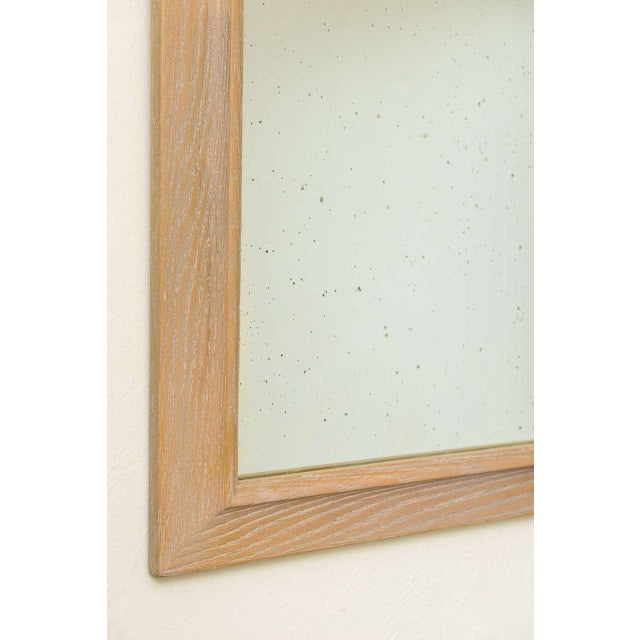 Jamestown Lounge Co. - 1940s Carved Cerused Oak Mirror - Image 4 of 5