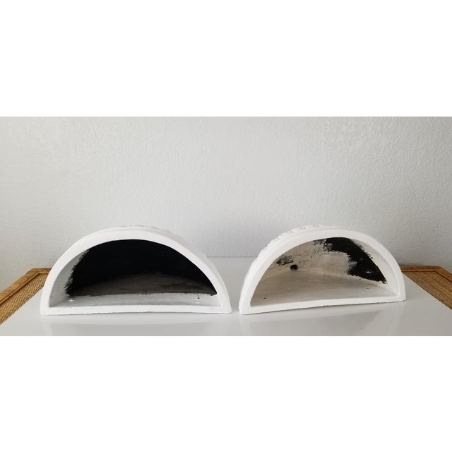 Italian Vintage Wall Planters - a Pair For Sale - Image 4 of 11