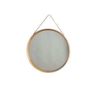 1960s Danish Modern Uno and Osten Kristiansson Luxus Oak Mirror For Sale