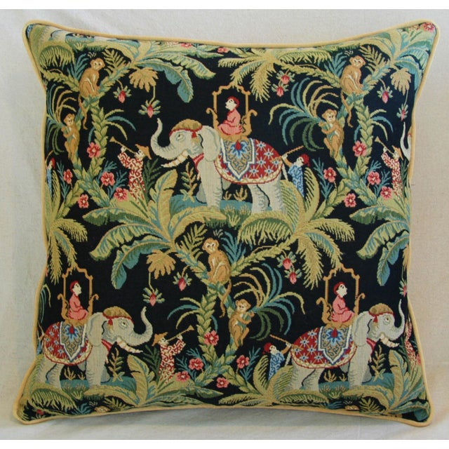 Custom English Tapestry Jungle Paradise Pillows - a Pair - Image 4 of 10