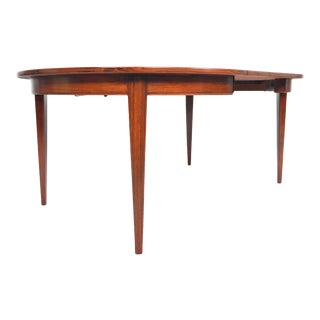 Danish Modern Round Brazilian Rosewood Table With Leaf For Sale