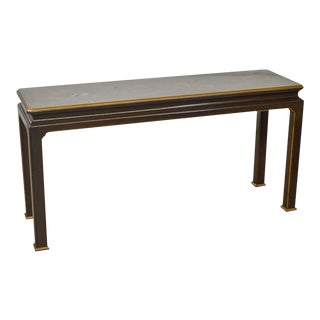 Henredon Chinoiserie Painted Chippendale Style Console Sofa Table
