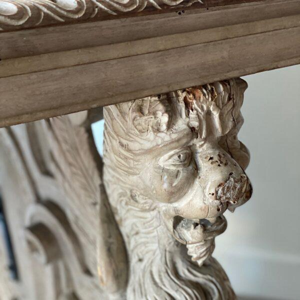 19th C. Carved Spanish Trestle Table For Sale - Image 4 of 8