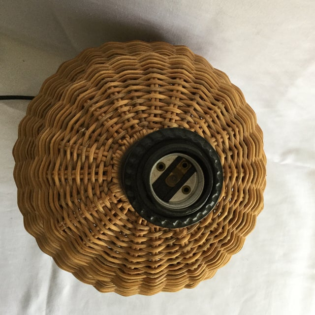 Large Round Wicker Lamp - Image 6 of 7