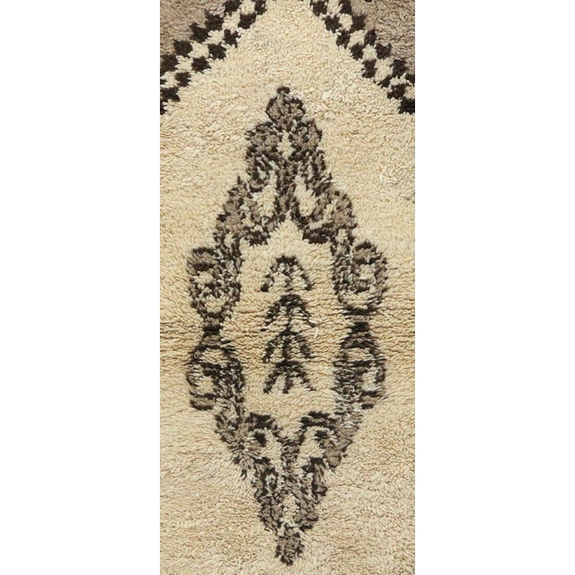Moroccan Rug handwoven by women of the Azilal tribe in the Middle Atlas Mountains. Type of Rug: Azilal Vintage Moroccan...