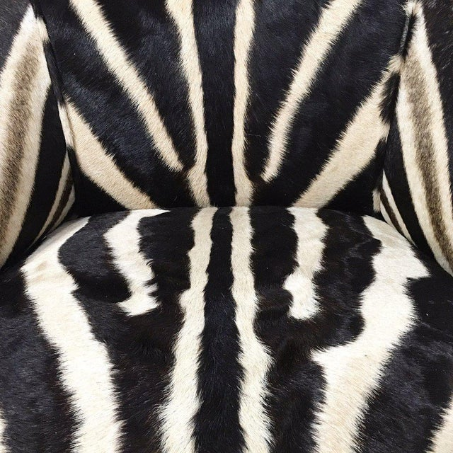 Vintage Carved Chair in Zebra Hide - Image 11 of 11