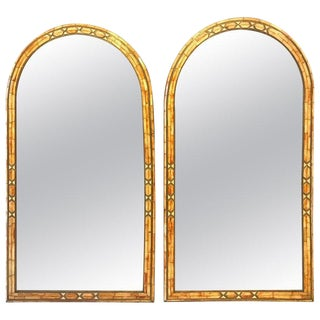 Palatial Moroccan Hollywood Regency Fashioned Wall Console or Pier Mirrors, Pair For Sale