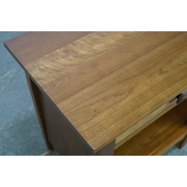 Stickley Mission Style Solid Cherry Nightstand - Image 9 of 10