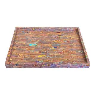 Contemporary Rainbow Calsilica Tray For Sale