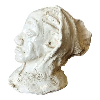 Contemporary Ceramic Portrait of a African American Gentleman For Sale