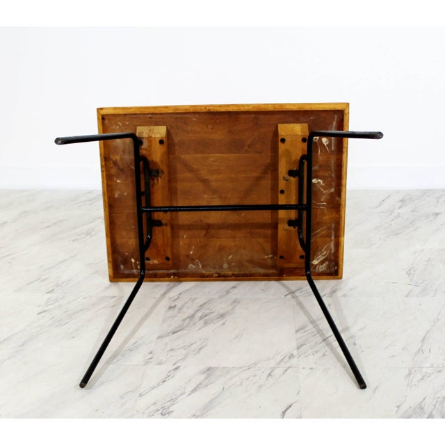 1950s Mid-Century Modern McCobb Planner Group Winchendon Maple & Iron End Table For Sale In Detroit - Image 6 of 7