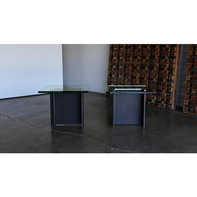 Black Gerald McCabe I Beam Side Tables Circa 1965 - a Pair For Sale - Image 8 of 13