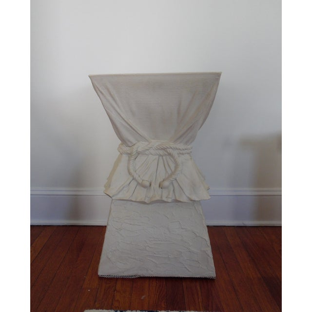 Beautiful Plaster Table with Draped and Roped design. Attributed to John Dickinson. Classic, elegance.