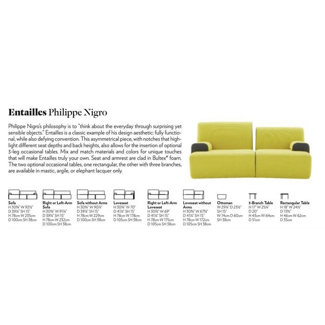 Ligne Roset Entailles Sofas- A Pair For Sale In New York - Image 6 of 7