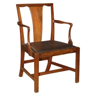 Mid 19th Century English Chippendale Armchair For Sale