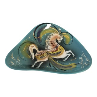 Vintage Mid-Century Sascha Brastoff Ceramic Ashtray For Sale