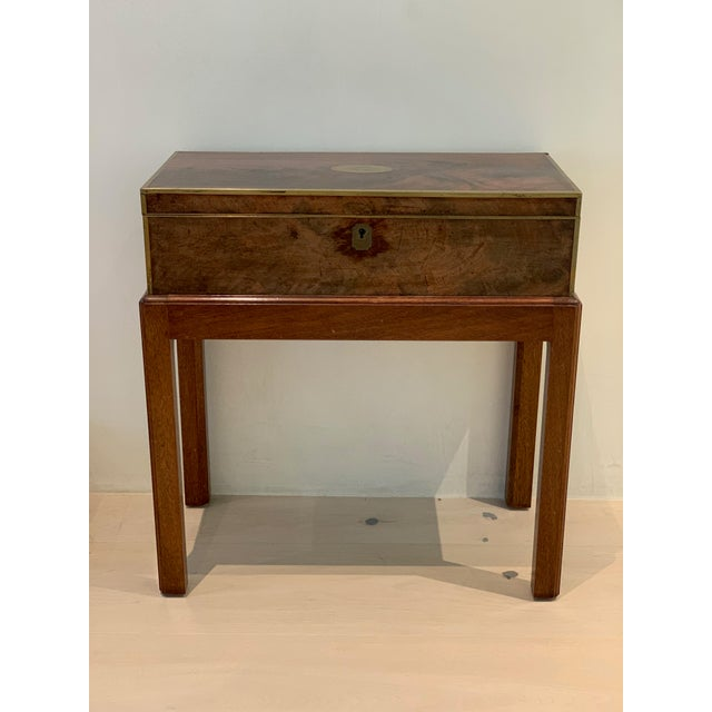 Antique Wooden Box on Custom-Made Stand For Sale - Image 13 of 13
