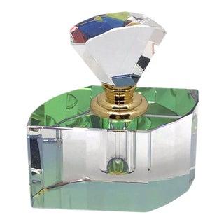 1990s Murano Perfume Bottle withFan Shape Stopper For Sale