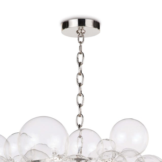 Not Yet Made - Made To Order Nimbus Glass Chandelier in Clear For Sale - Image 5 of 7