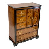 Image of Vintage 1970s Bassett Chinoiserie Birch Dressing Chest For Sale