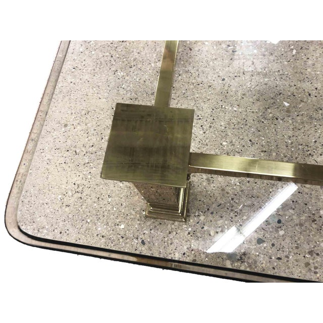 1960s 1960s Art Deco Style Solid Brass Coffee Table For Sale - Image 5 of 7