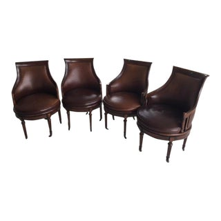 Drexel Heritage British Accents Madeline Game Chairs - Set of 4 For Sale