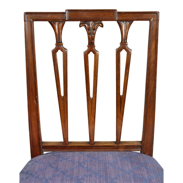 Federal Mahogany Side Chairs - Set of 4 For Sale - Image 4 of 10