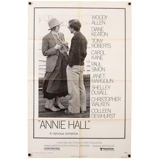 1977 Annie Hall Original Woody Allen Diane Keaton Poster