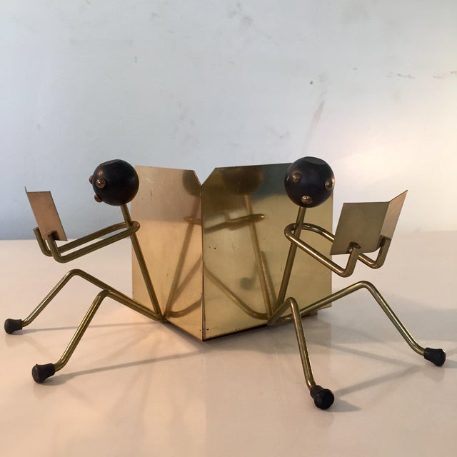 Mid-Century Modern Brass Stick Men Bookends - a Pair For Sale In Richmond - Image 6 of 6