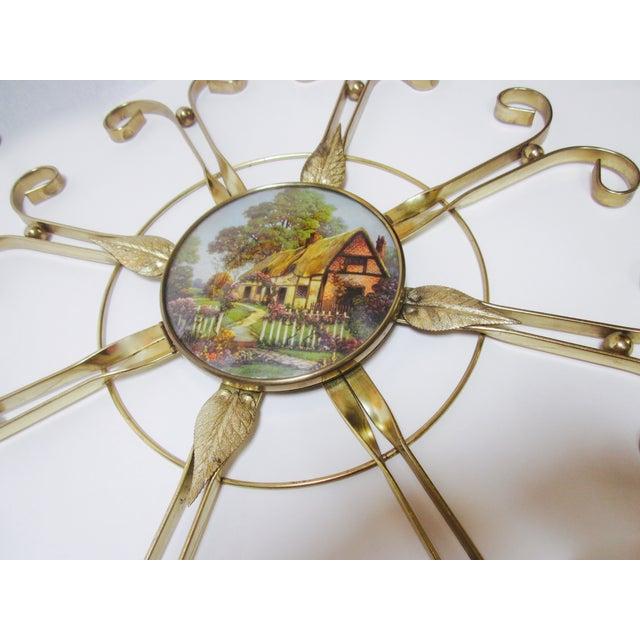 Mid Century Modern Hollywood Regency Atomic Clock - Image 7 of 11