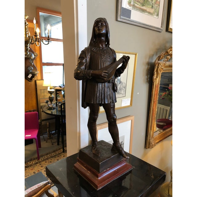 1880s Claudius Marioton The Venetian Bronze Table Top Sculpture For Sale - Image 12 of 12