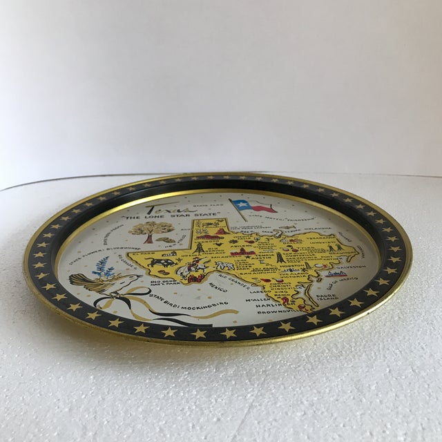 Vintage 1960 Texas Tin Tray For Sale - Image 5 of 9