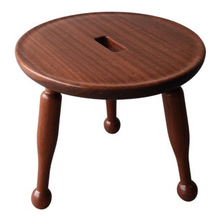 Low Vintage Teak Side Table For Sale