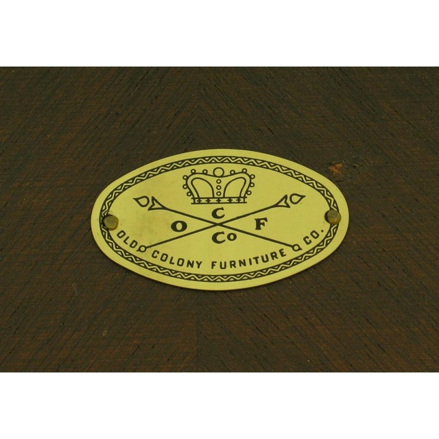 Old Colony Furniture Walnut Flip Top Games Table - Image 10 of 10