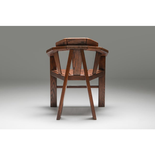 Abstract Walnut Craftsman Chair - 1960s For Sale - Image 3 of 13
