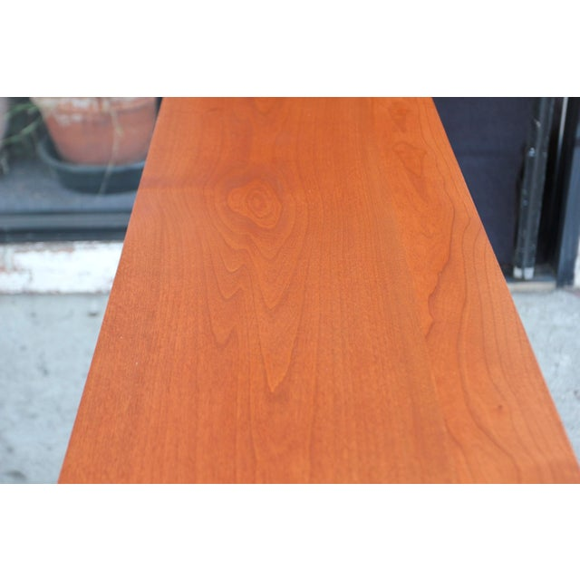 Mid-Century Modern Solid Wood Hair Pin Leg Credenza For Sale - Image 9 of 12