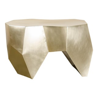 Molar Seat - Brass by Robert Kuo, Hand Repousse, Limited Edition For Sale
