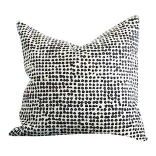 Marimekko Black and Off White Pillow For Sale