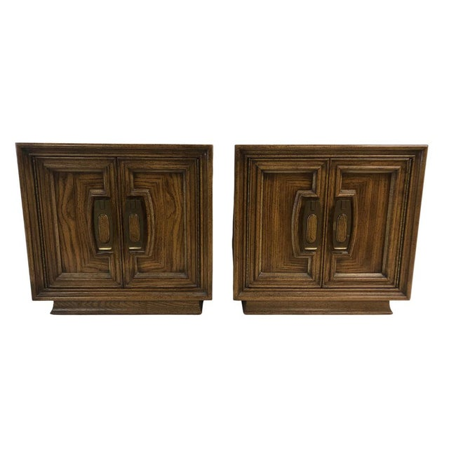 1960s Mid Century Wooden Nightstands - a Pair For Sale - Image 4 of 4