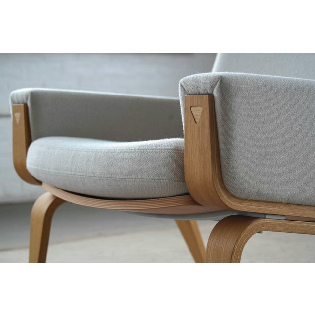 Stunningly beautiful low back Hans Wegner easy chair model 501 designed in 1967 and manufactured by GETAMA, Denmark. This...