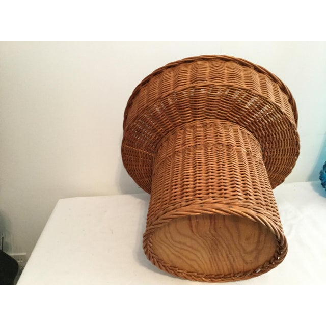 Basket With a Wooden Bottom For Sale - Image 9 of 12