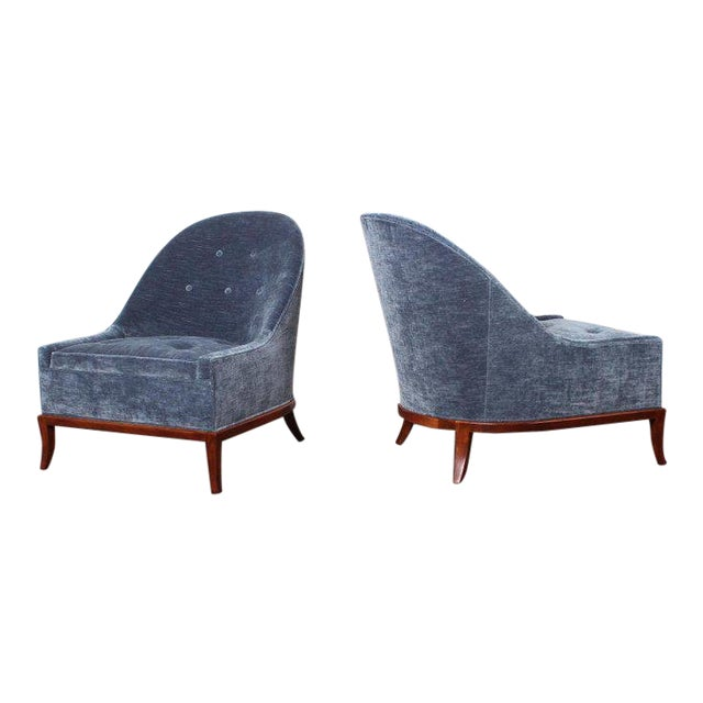 Pair of Slipper Chairs by t.h. Robsjohn-Gibbings for Widdicomb For Sale