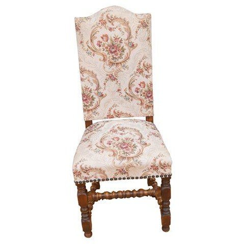 A rare set of twelve French dining chair in the style of Louis XIII found near Lyon, France. The chairs date back to the...