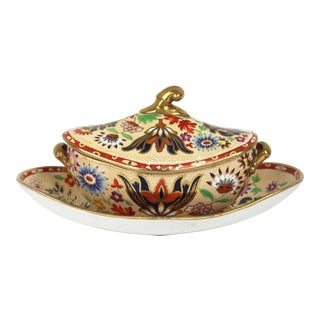 19th Century English Porcelain Sauce Boat For Sale