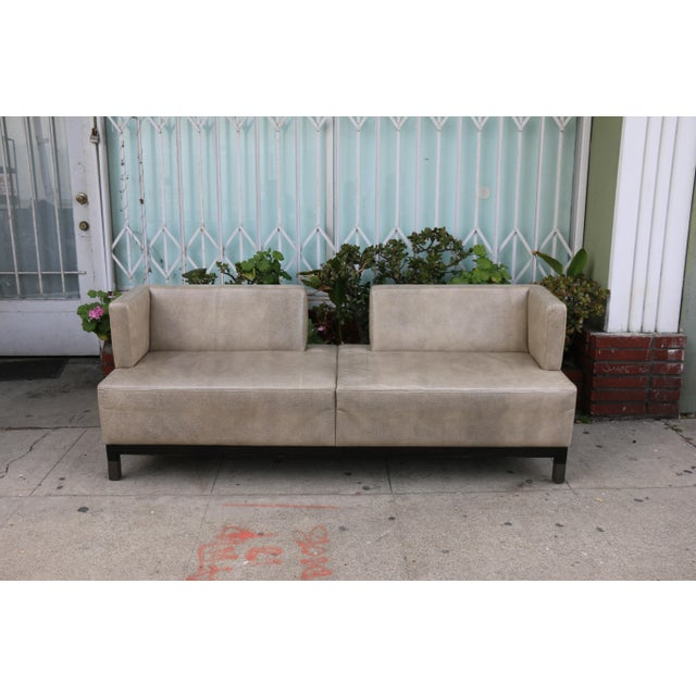 Nordstrom Leather Contemporary Sofa in excellent condition. No damages on base or sofa. Modern style with a great look!