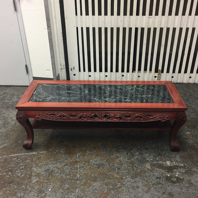 Vintage Chinese Rosewood & Jade Coffee Table - Image 2 of 7